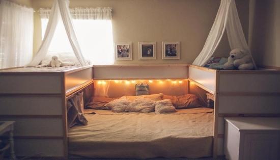 Familienbett IKEA kura
