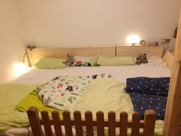 Familienbett selbstgebaut