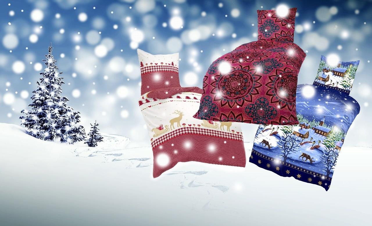 Kuschelige Winterbettwäsche mit süßen Designs